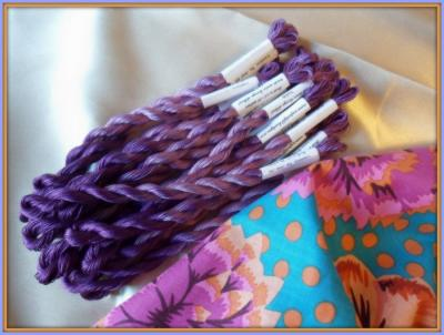 Fil perlé 12 Violette