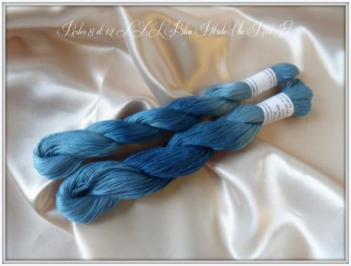 Perles 8 et 12 xxl bleu petrole un petit fil