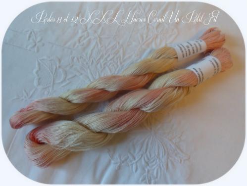 Perles 8 et 12 xxl nacres corail un petit fil