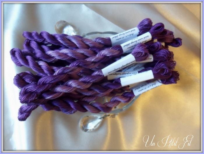 Fil Perlé 8 Violette