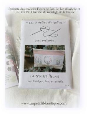 Pochette modeles trousse fleurie fleurs de lin le lin d isabelle et un petit fil