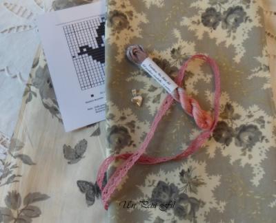 semi kit Anabella - Tissu Mas d'Ouvan + fil Anabella série limitée