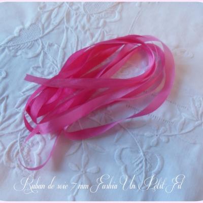 Ruban de soie Fushia 7 mm