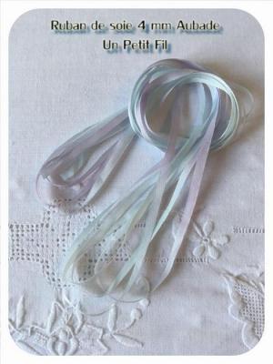 Ruban de soie  Aubade  4 mm
