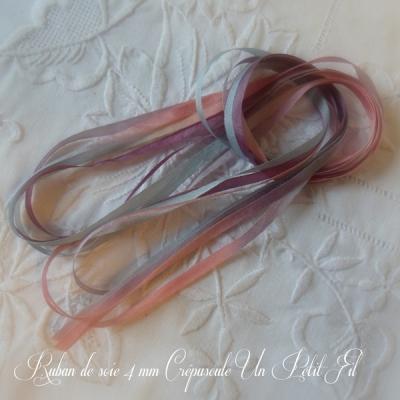 Ruban de soie Crépuscule 4 mm