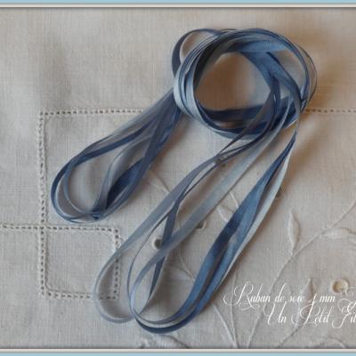 Ruban de soie Jeannette 4 mm