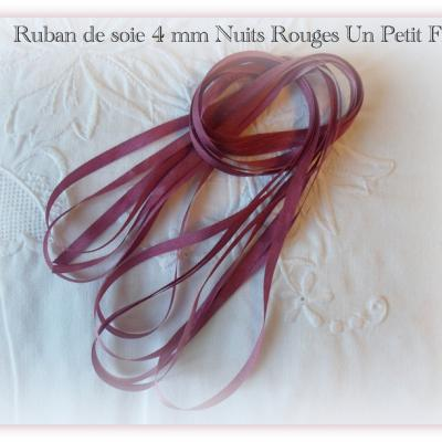 Ruban de soie Nuits Rouges 4 mm