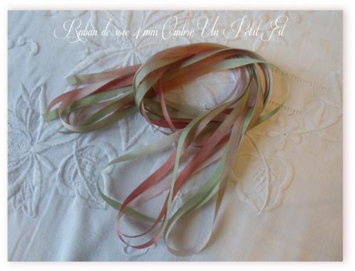 Ruban de soie 4 mm ombre un petit fil