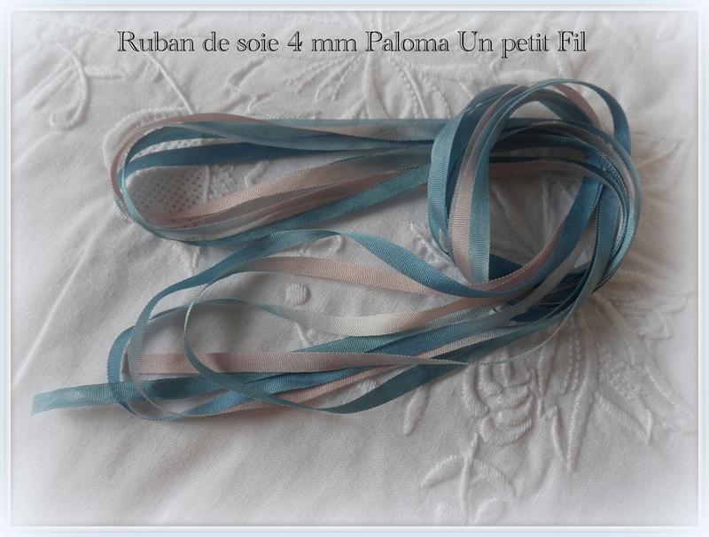 Ruban de soie 4 mm paloma un petit fil