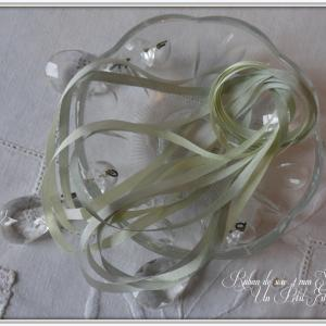 Ruban de soie 4 mm sapinette 1