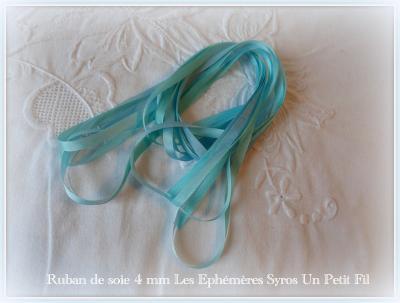 Ruban de soie Syros 4 mm (les éphémères)