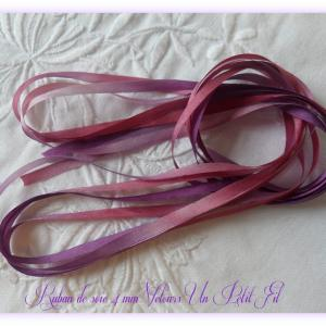 Ruban de soie 4 mm velours un petit fil