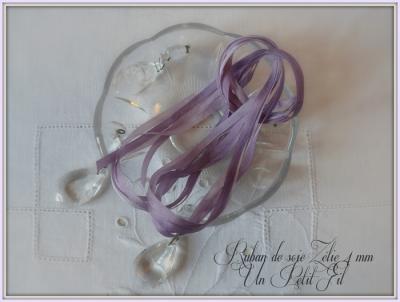Ruban de soie Zélie 4 mm