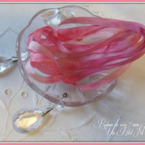 Ruban de soie 7 mm litchi