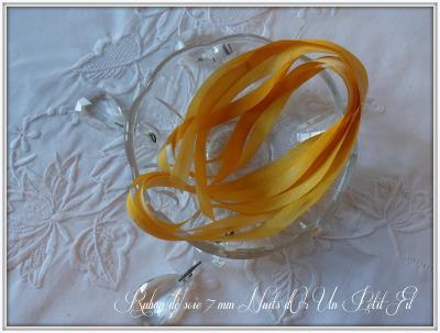 Ruban de soie Nuits d'Or 7 mm