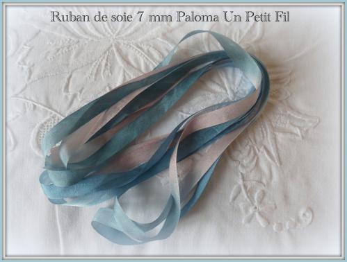 Ruban de soie 7 mm paloma un petit fil