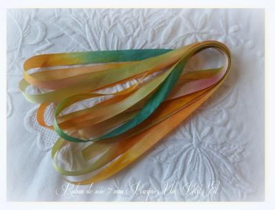 Ruban de soie Pourpier 7 mm (les éphémères)