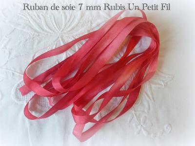 Ruban de soie Rubis 7 mm