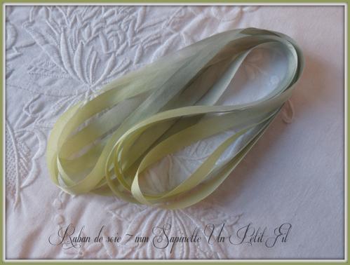 Ruban de soie 7 mm sapinette 1