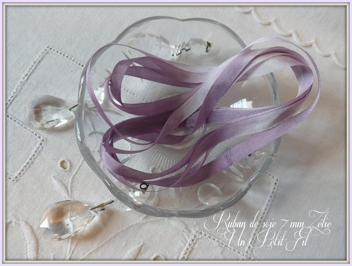 Ruban de soie Zélie 7 mm