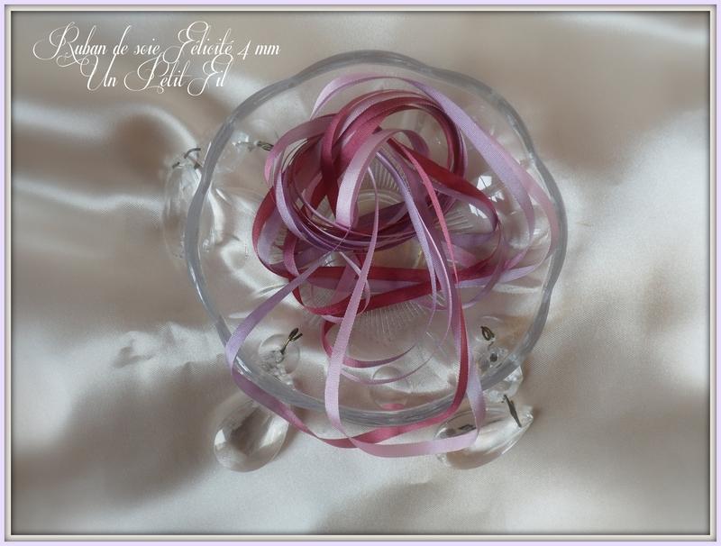Ruban de soie felicite 4 mm 1