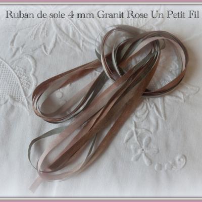 Ruban de soie Granit Rose 4 mm