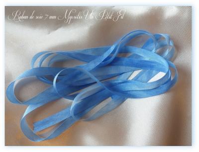 Ruban de soie Myosotis 7 mm