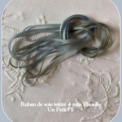 Ruban de soie Flanelle 4 mm