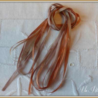 Ruban de soie Caramel 4 mm