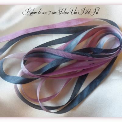 Ruban de soie Violine 7 mm
