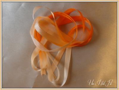 Ruban de soie Capucine 7 mm