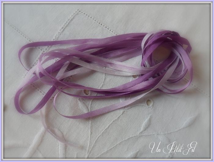 Ruban de soie Violette 4 mm