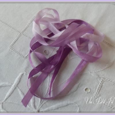 Ruban de soie Violette 7 mm