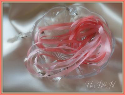 Ruban de soie Corail 4 mm