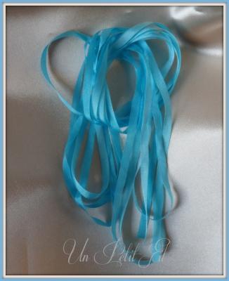 Ruban de soie Lagon 4 mm