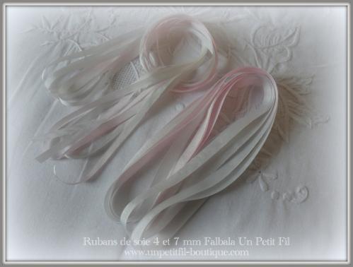 Rubans 4 et 7 mm falbala un petit fil
