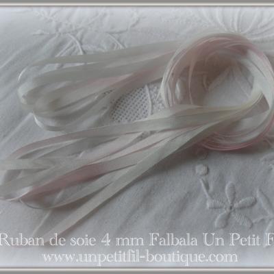 Ruban de soie Falbala 4 mm
