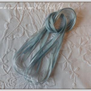 Rubans de soie 4 mm orage un petit fil 1