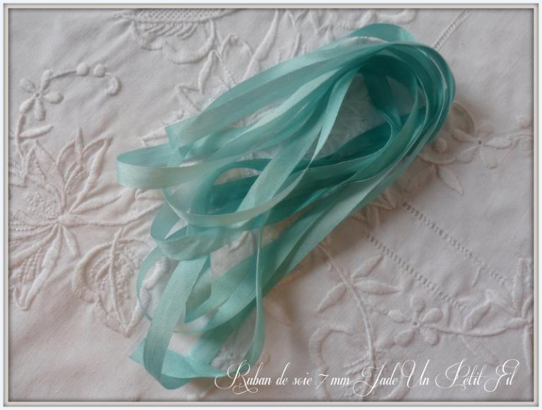 Ruban de soie Jade 7 mm