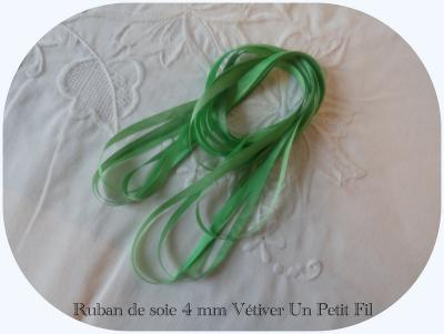 Ruban de soie Vétiver 4 mm