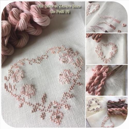 Satin et marbre rose 1