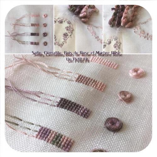Satin et marbre rose 2