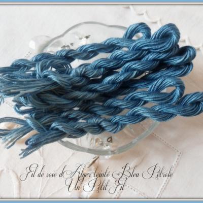 Fil de Soie Nuits Bleu Pétrole