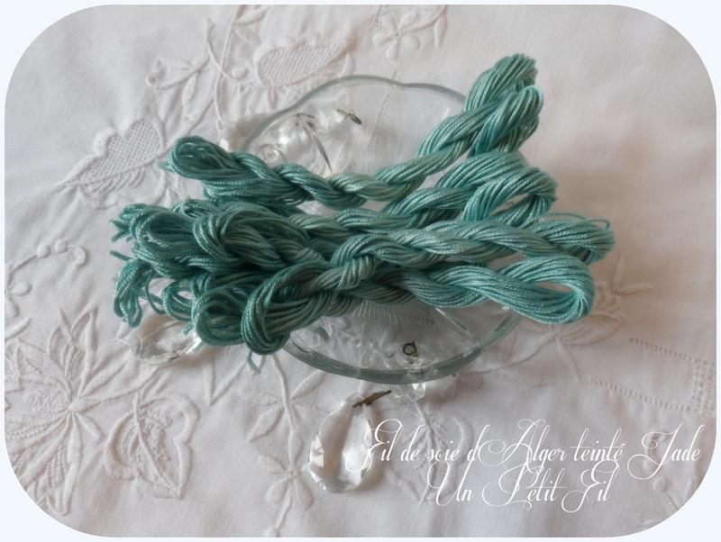 Soie d alger teintee jade un petit fil