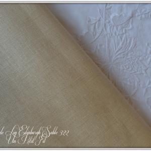 Toile de lin edinburgh sable 322 un petit fil