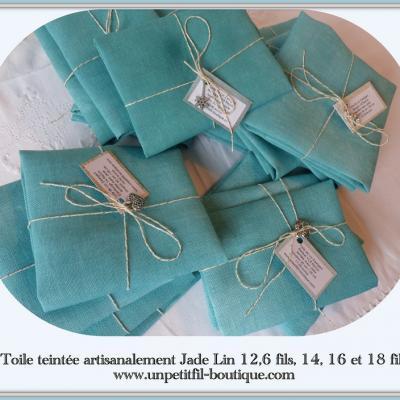 Toile teintée Jade 12,6 fils 32 cm X 33 cm
