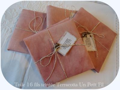 Toile teintée Terracotta 12,6 fils 31 cm X 33 cm