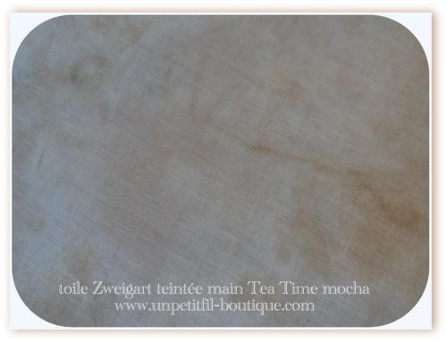 Toiles teintee main tea time mocha 16 et 18 fils 2