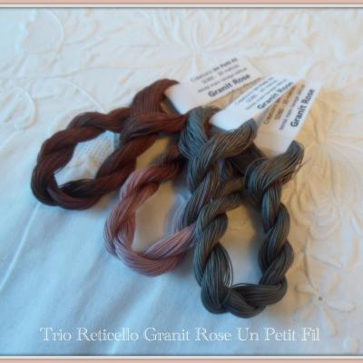 Trio Reticello Granit Rose