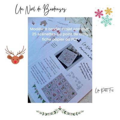 Grille Un Noël de Brodeuses (version papier ou PDF)